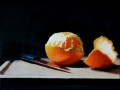 Orange and Knife Still Life - SOLD