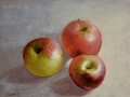 Apple Trio Still Life - SOLD