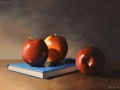 Apples and Book Still LIfe - SOLD