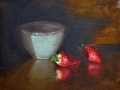 Strawberries and Bowl - SOLD